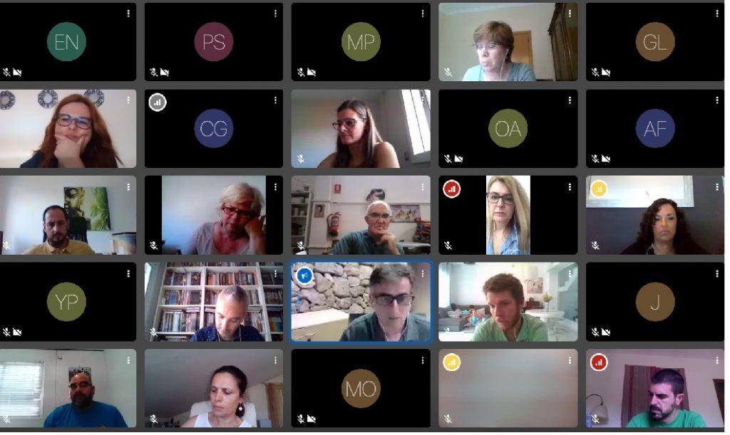 Sessió del grup de treball de reactivació social, dia 15 de juny de 2020